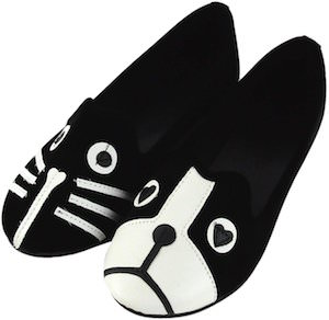 Women's Shoes With Cat And Dog Face