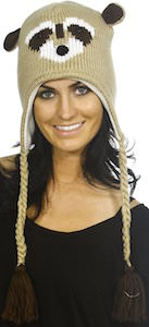 Racoon Face Winter Hat