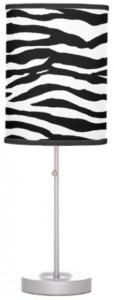 Zebra Print Table Lamp