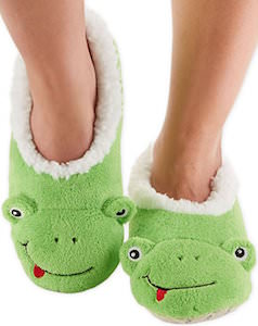 Green Frog Women's Slippers