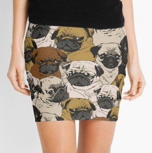 Pug Heads Skirt