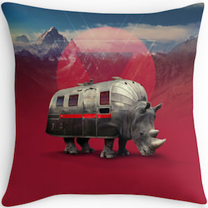 Rhino Van Pillow
