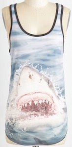 Women's shark tank top