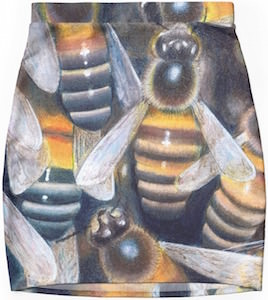 Pencil skirt with bee design
