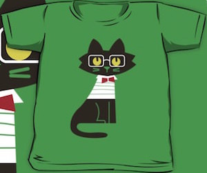 Cat With Glasses Kid's T-Shirt