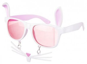 Bunny Sunglasses With Ears Nose And Whiskers
