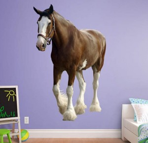 Clydesdale Horse Wall Decal