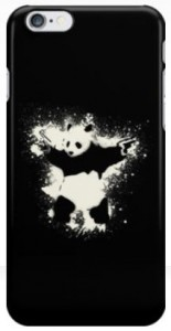 Panda Bear With Two Guns iPhone Case