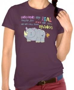 Rhinos Fat Grey Unicorn T-Shirt