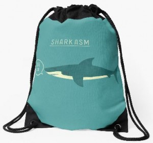 Sarcastic Shark Drawstring Bag