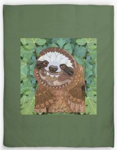 Sloth Design Duvet Cover