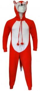 Red Fox Hooded Onesie Pajama