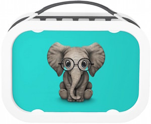 Elephant With Glasses Lunch Box