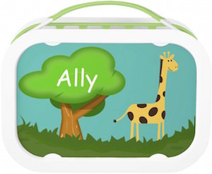 Personalized Kids Giraffe Lunch Box