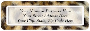 Leopard Print Address Labels.