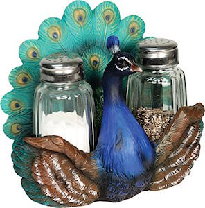 Peacock Salt And Pepper Shaker Set