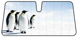 Penguins Car Sun Shade