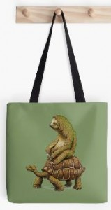 Sloth Riding A Turtle Tote Bag