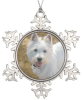 Pet Photo Personalized Snowflake Christmas Ornament