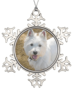 Pet Photo Personalized Snowflake Christmas Ornament