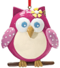Pink Owl Personalized Christmas Ornament