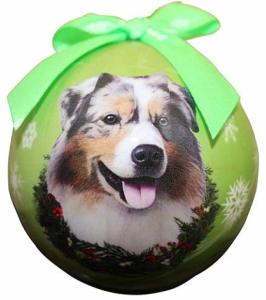 Australian Shepherd Christmas Ball Ornament