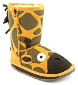 Giraffe Plush Kids Boots