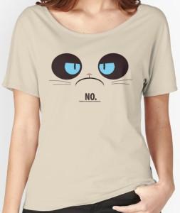 Grumpy Cat Face NO T-Shirt