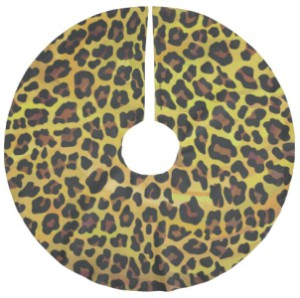 Leopard Print Christmas Tree Skirt