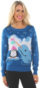 Narwhal And Penguin Sweater
