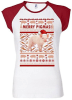 Pig Merry Pigmas Ugly Christmas Sweater Raglan T-Shirt