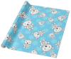 Polar Teddy Bear Snowflakes Wrapping Paper
