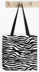 Zebra Stripe Pattern Tote Bag