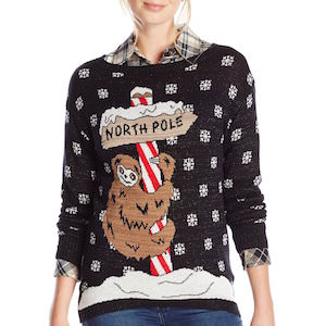 Sloth North Pole Christmas Sweater
