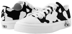 Animal print cow shoes