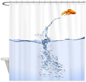Jumping GoldFish Shower Curtain