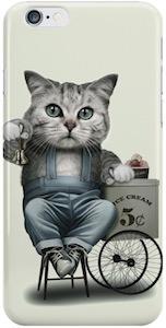 Cat Selling Ice Cream Phone case