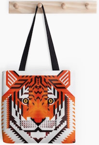 Triangle Tiger Tote Bag