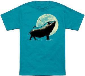 Pig Barking At The Moon T-Shirt