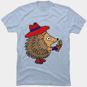 Hedgehog That Likes Gardening T-Shirt