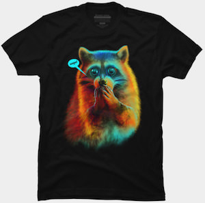 Raccoon Oops T-Shirt
