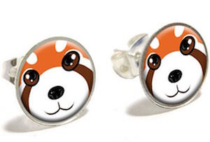 Red Panda Face Earrings