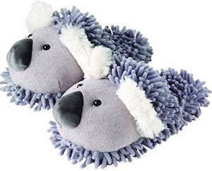 Women's Fuzzy Koala Slippers