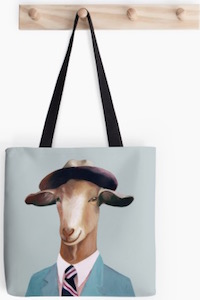 Dressed Up Goat Tote Bag