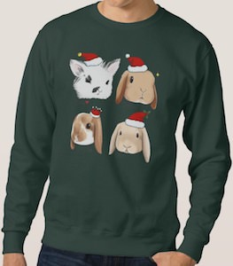4 bunnies Christmas Sweater