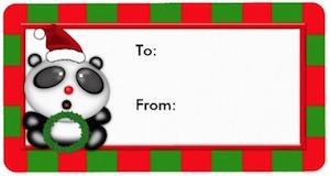 Panda Bear Christmas Gift Tags