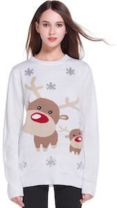 white christmas sweater with reindeer - White Christmas Sweater