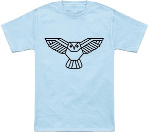 Lined Owl Flying T-Shirt