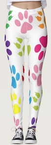 Dog Paw Print Leggings