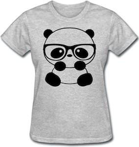 Women's Panda Nerd T-Shirt